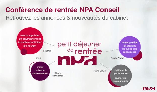 Visuel de la conférence de rentrée NPA Conseil